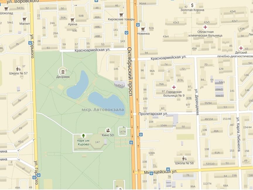 Больница на карте (2)